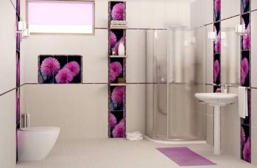 дизайн укладки плитки в ванной.