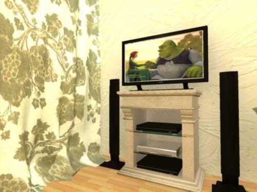 Телевизор над камином фото