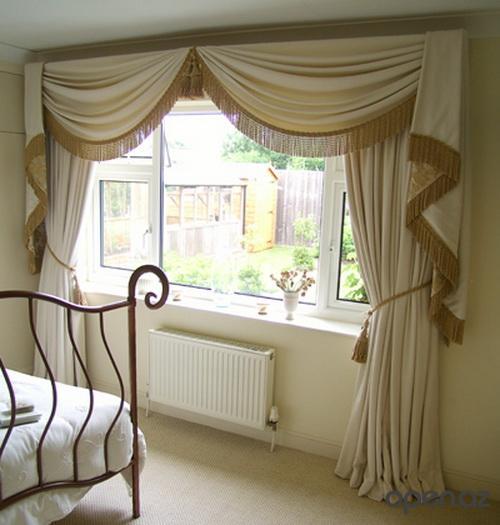 Декор окна в спальне фото
