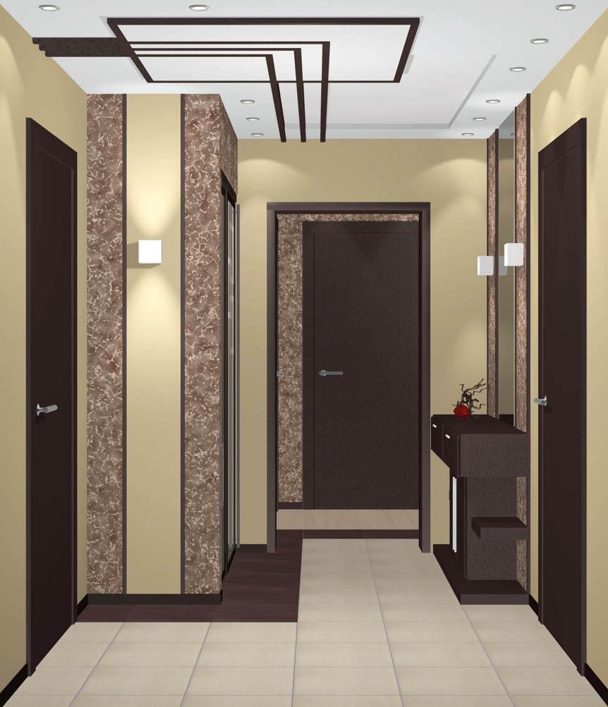 Дизайн интерьер коридора